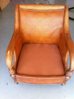 Ethan Allen Wicker Lounge Chair