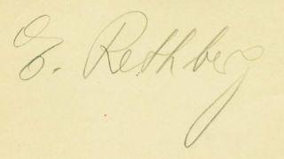 Elizabeth Rethberg Vintage Signed Page Autograph Cuba