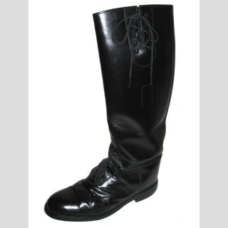 English Equestrian Tall Field Riding Boots Black Leather 8 5