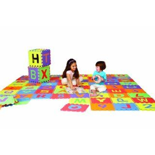 Edushape Edu Tiles 36 Piece 6x6ft Play Mat Letters Numbers Set D110