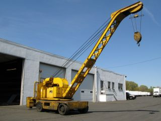 Elwell Parker CZ 10 000 lb MOBILE ELECTRIC CRANE industrial hoist lift
