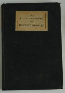 1915 Collected Poems of Rupert Brooke John Lane Company Fifth Thousand