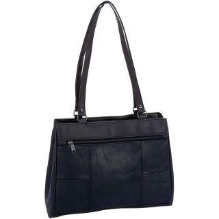 Black Lambskin Leaher Baguee Handbag, Womens Evening Messenger
