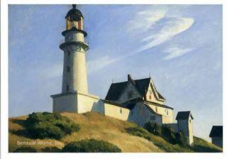 at Two Lights Postcard American Painter Edward Hopper