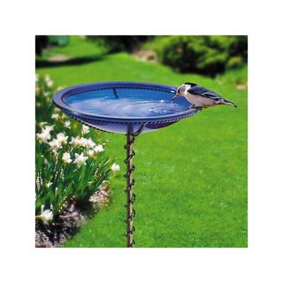 Improvements In Ground Blue Glass Bird Bath