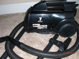EUREKA MIGHTY MITE CANISTER VACUUM CLEANER  GREAT CONDITION