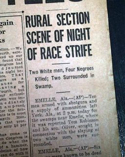 1930 Emelle Al Alabama Race Riot Negroes Old Newspaper