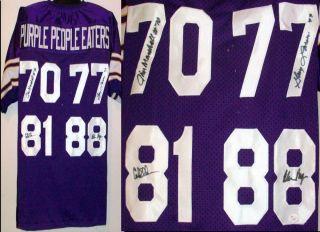 Signed/ Autographed Minnesota Vikings Jersey Page, Eller, Marshall JSA