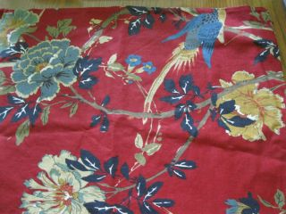 Barn Accents Floral 24x24 Euro Sham Red Blue Flowers Bird Pillow Cover