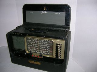 ZENITH VINTAGE RECONDITIONED TRANS OCEANIC AM SHORTWAVE RADIO R 600