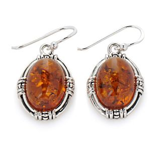 Jewelry Earrings Drop Studio Barse Amber Sterling Silver Earrings