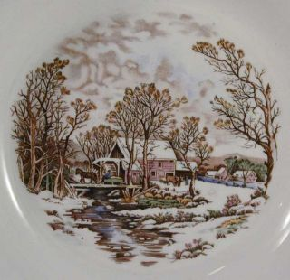 Edwin Knowles Winter Scene China Vegetable Bowl 2027