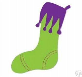 Sizzix Sizzlit Ellison Die Christmas Stocking Retired