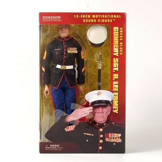 Lee Ermey Dress Blues Marine Motivational Sound Figure Unopened