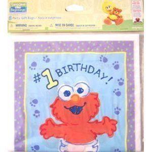 SESAME STREET Beginnings BABY ELMO TREAT SACKS Birthday Party Supplies