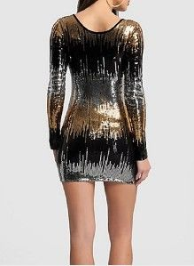 New Marciano Guess Emme Sequin Dress Sexy Party Mini Black Multi Color