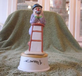 Emmett Kelly Jr Musical Figurine Clown CHAIR Send in the Clowns Hobo