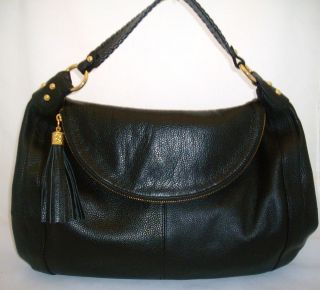 Onna Ehrlich Handbag Rachel Tassel Black Italian Leather Hobo Purse $