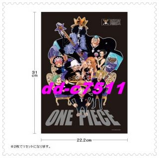 One Piece Drawn by Eiichiro Oda Clear File Set Ver illustration WJ