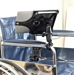 Mount holder for Ipad 1 2 3 fits invacare Everest Jennings wheelchairs
