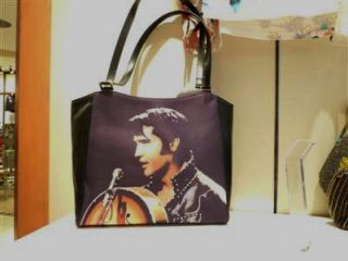 Blue Elvis Presley Guitar Handbag Tote King Rock Roll