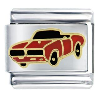 Pugster 9mm Italian Charms Big Red Muscle Car Vehicle O17