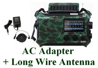 Voyager KA500CAM Hand Crank Emergency Radio Complete Kit Camo Radio