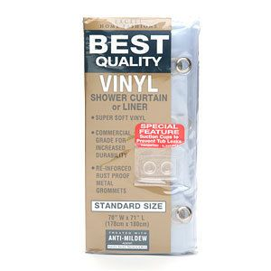 Ex Cell Home Fashions Best Quality Vinyl Shower Curtain or Liner 1 ea