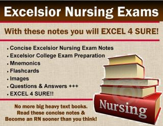 Excelsior College Nursing Exams 1 8 CD Study Guides