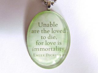 Emily Dickinson Poetry Unable Are The Loved to Die Poet Large Bubble