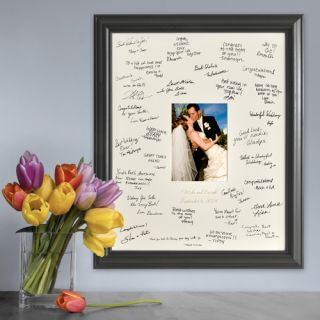 Wedding with Lazer Etching ~ Personalized Signature Picture Frame for