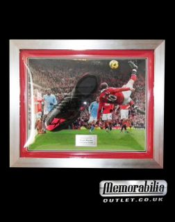 Rooney Man Utd Signed Black Nike Boot Framed Manchester United England