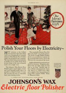 Tree Children Family Johnsons Wax Electric Floor Polisher Home
