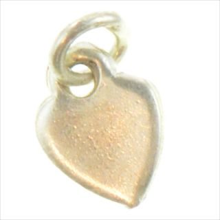 Sterling Silver Engravable Smooth Flat Heart Charm Pendant XZ772