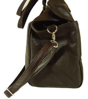 Brown Leather Hobo Satchel Tote Shoulder Handbag