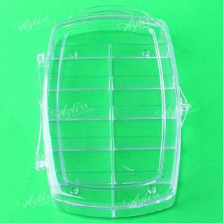 Clear Storage Case Box 11 Cells for Nail Art Tips Gems