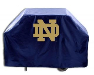 Notre Dame Fighting Irish ND Navy Vinyl Barbecue Grill Cover 2 Sizes