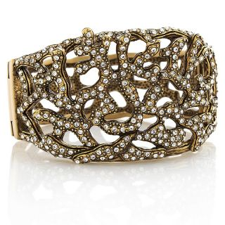 Heidi Daus Crystal Reef Coral Design Bangle Bracelet at