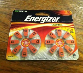 Energizer Hearing Aid Batteries Size 13 16 Batteries Brand New Sealed