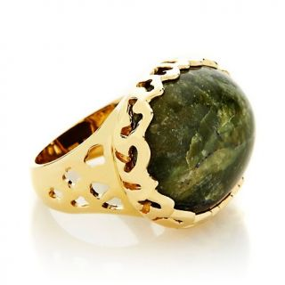 Technibond® East/West Oval Green Opal Statement Ring