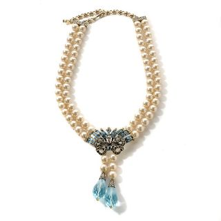 Heidi Daus Crystal Hue Persuasion Simulated Pearl Drop Necklace at