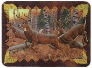 Deer Theme Tempered Glass Cutting Board 12x16 New