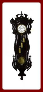 Extraordinary Antique 3 weight Serpentine wall clock with Grand