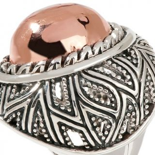 Studio Barse Copper and Sterling Silver Oval Ring