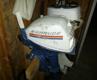 Evinrude 4 HP Outboard Boat Motor
