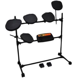 PED03 Electronic Drum Set w 5 Pads 2 Pedals Natural Response Cymbals