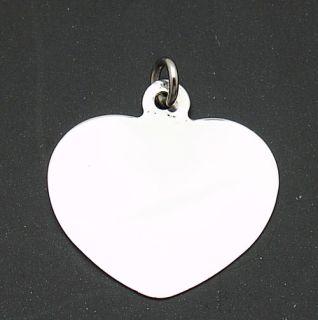 engravable medium heart charm pendant 14k white gold product details
