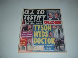 Globe Mike Tyson O J Simpson Tanya Tucker ER Edwards