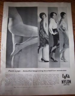 1961 Enka Nylon Panti Legs Hosiery Stockings Ad
