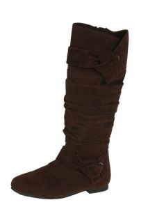 Elegant Baby 9 Womens Wrinkled Suede Tall Boots